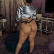 Big black booty - porn GIFs