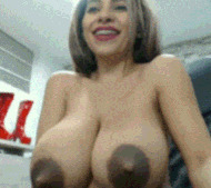 Big dark nipples - porn GIFs