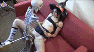 Fucked by skeleton - porn GIFs