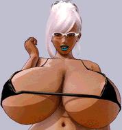 Huge tits 3d  - porn GIFs