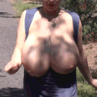 Mega busty mature - porn GIFs
