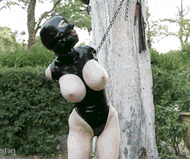 Slut in rubber suit - porn GIFs