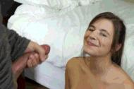 Smiling facials - porn GIFs