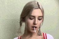 Student licking lollipop - porn GIFs
